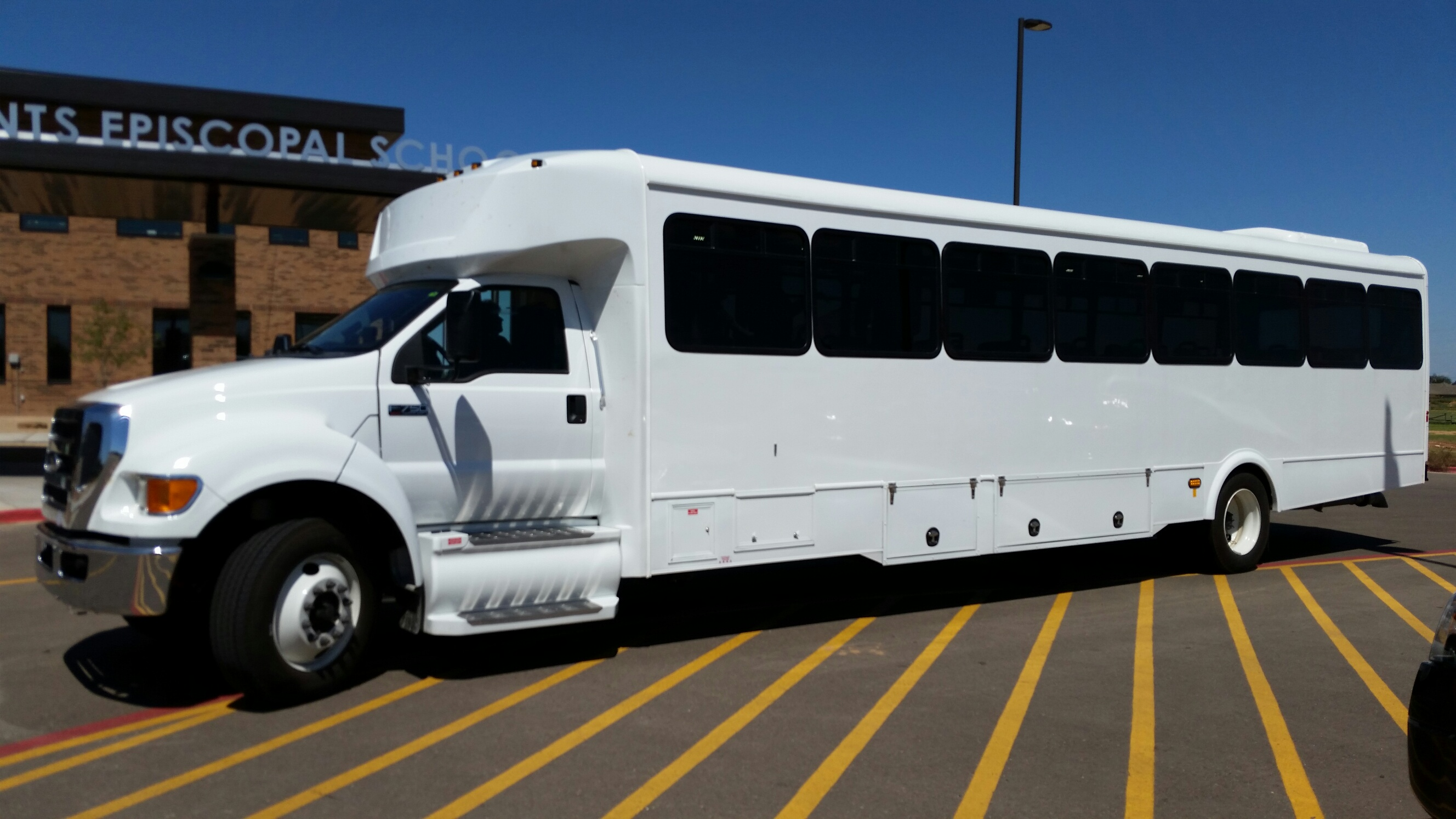 bus van custom bus s church paratransit off road detainee glaval 49 passenger plus driver 2015 3200 miles